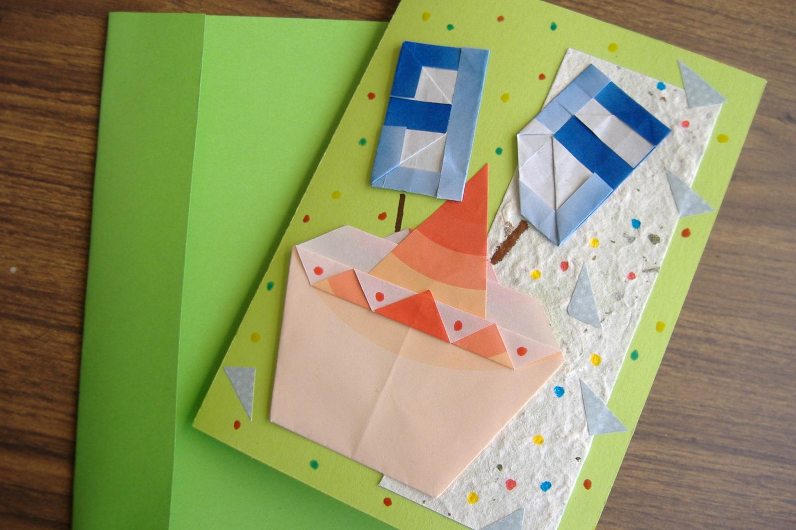 すべての折り紙 誕生日 飾り 折り紙 : カップケーキカード: カフェも ...